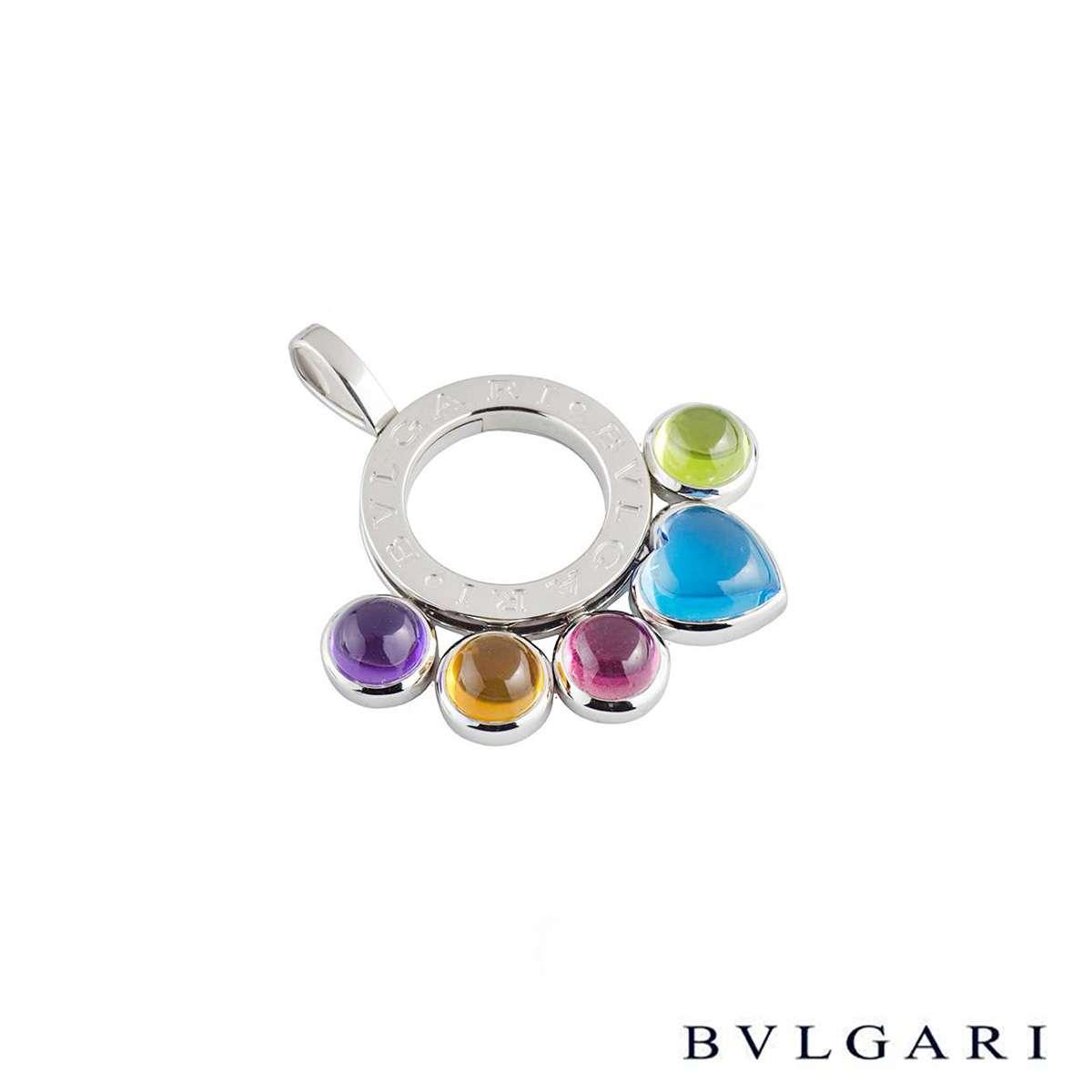 Bvlgari White Gold Allegra Pendant